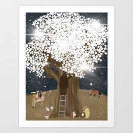 the starlight tree Art Print