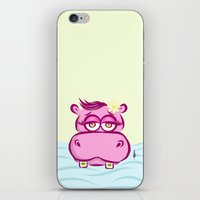 hippo iPhone & iPod Skins featuring Hippo by Azhar
