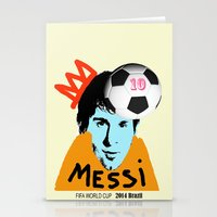 messi Stationery Cards featuring Messi by SNACKONART