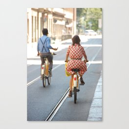 Bikers in Milan, Italy Canvas Print