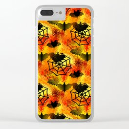 Halloween Abstract Clear iPhone Case