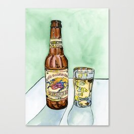 Kirin Beer and Glass Canvas Print