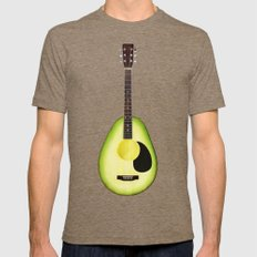 AVOCADO GUITAR Mens Fitted Tee MEDIUM Tri-Coffee