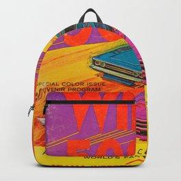 Vintage 1972 Race Poster Backpack