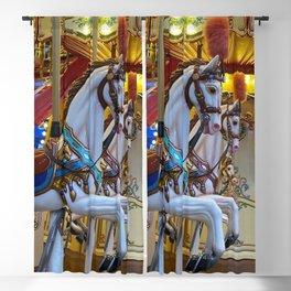 Vintage Carousel Horse Blackout Curtain