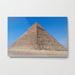 Pyramid of Cheops - Cairo, Egypt Metal Print