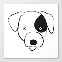 jack russell Canvas Prints featuring Jack Russell by anabelledubois