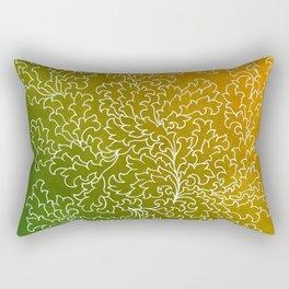 Green Yellow Grunge Leaves Rectangular Pillow