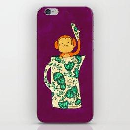 Dinnerware sets - Monkey in a jug iPhone Skin
