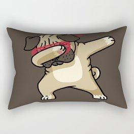 Dabbing Pug Rectangular Pillow
