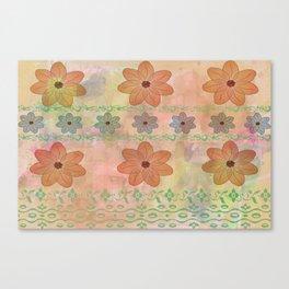 Orange floral pattern Canvas Print