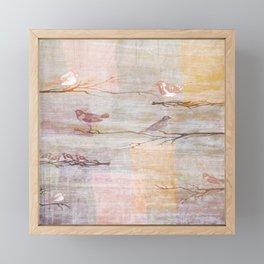 Contemporary Art | Golden Pink Birds Framed Mini Art Print