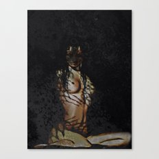 Untamed (woman with tiger features)  Canvas Print