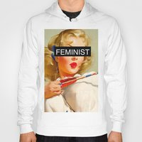 feminist Hoodies featuring Feminist by Lucas de Souza