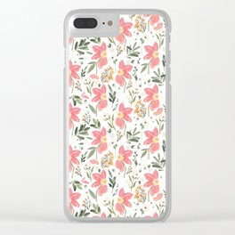 Tropical Glories Clear iPhone Case