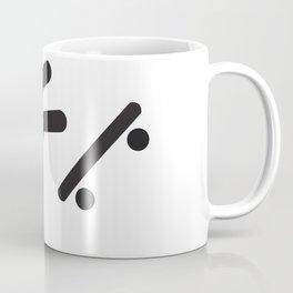 Stickman Skateboard Fall Coffee Mug
