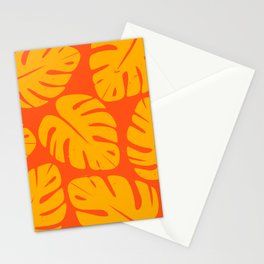 Monstera Leaf Print 1 Stationery Cards
