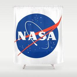 NASA logo Space Agency Astronaut Shower Curtain