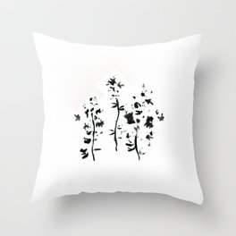 017/100: CORN SPEEDWELL [100 Day Project 2020] Throw Pillow