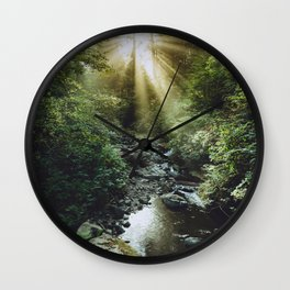 Morning Rays at Oswald West State Park, Oregon Wall Clock