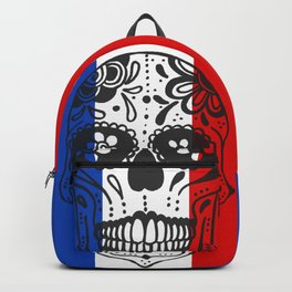 Mexican Skull With French Flag Backpack