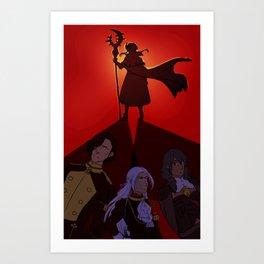 three shadows Art Print
