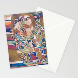 painted etching Stationery Cards