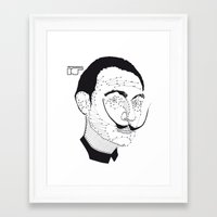 dali Framed Art Prints featuring DALI by pointing@faces