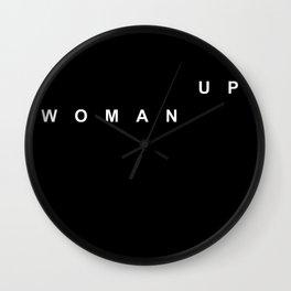 WOMAN UP Wall Clock