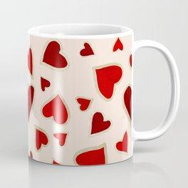 Ditsy dark hearts for lovers Coffee Mug