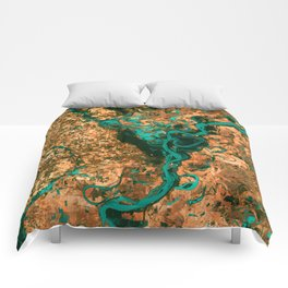 Meandering Mississippi Comforters