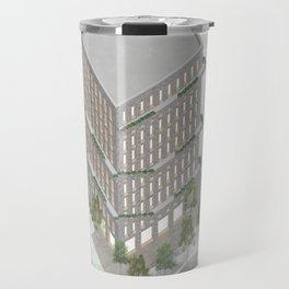 Axonometric bricktower in park Travel Mug