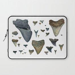 Fossil shark teeth watercolor Laptop Sleeve