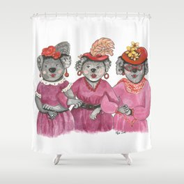 Red Hat Ladies off to Lunch Shower Curtain