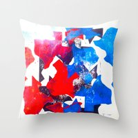 texas Throw Pillows featuring Texas by Evan Hawley