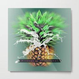 Pineapple Milkshake Metal Print