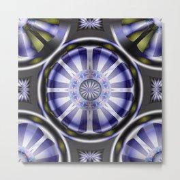 Pinwheel Hubcap in Purple Metal Print