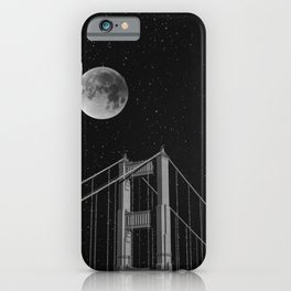 Full Moon Over Golden Gate Bridge San Francisco, California iPhone Case