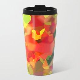 Abstract Polygon Forest Travel Mug
