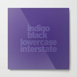 MetaType Indigo Metal Print