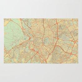 Madrid Map Retro Rug