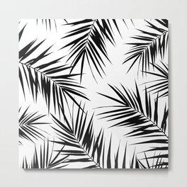 Palm Leaves Cali Finesse #3 #BlackWhite #tropical #decor #art #society6 Metal Print