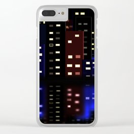 City Reflections at night Clear iPhone Case