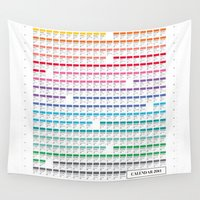 calendar Wall Tapestries featuring Calendar 2014 by neuprouns