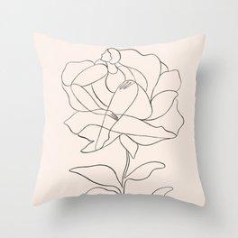 Flower (line) Throw Pillow