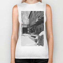 Old Barn, Yashica C, Black and White, Film, Medium Format Biker Tank