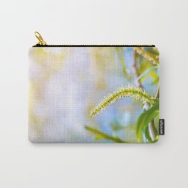 Weeping willow spring branch with new leaves and pollen Carry-All Pouch