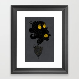 Polluted Planet Framed Art Print