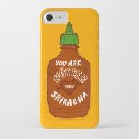 sriracha iPhone & iPod Cases featuring Sriracha Valentine by Leah Doguet