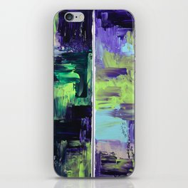 Violet & Green On A Rainy Day iPhone Skin